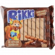 Вафельные трубочки «Rikki» со вкусом шоколада, 175 г.