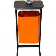 Урна уличная «Титан Мета» с пепельницей, ТМБ-35 New, оранжевый