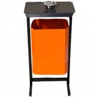Урна уличная «Титан Мета» с пепельницей, ТМБ-50 New, оранжевый