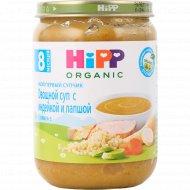 Суп овощной «Hipp» с индейкой и лапшой, 190 г.