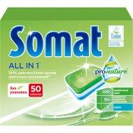 Таблетки для посудомоечных машин «Somat» Pro Nature, 50 шт