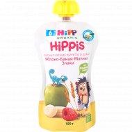 Детское питание «Hipp» Яблоко-Банан-Малина-Злаки, 100 г.