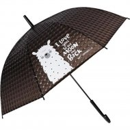 Зонт-трость «Михи-Михи» Альпака с 3D эффектом, черный