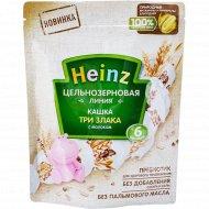 Каша цельнозерновая линия «Heinz» три злака с молоком, 180 г.