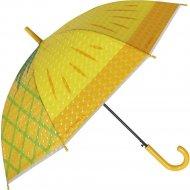 Зонт-трость «Михи-Михи» Ананас с 3D эффектом, желтый, 80 см