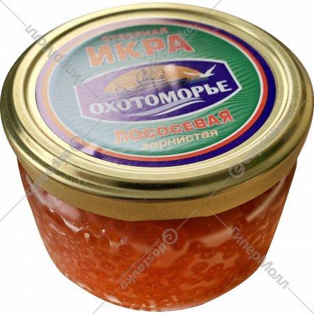 Икра лососевая «Охотоморье» отборная (кета), охлажденная, 200 г.