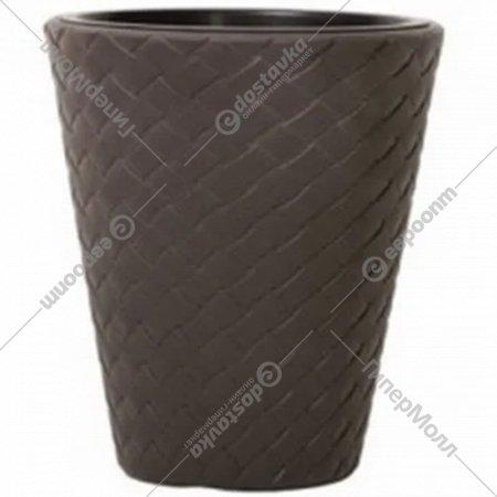 Горшок «Prosperplast» пластиковый Matuba 300, коричневый