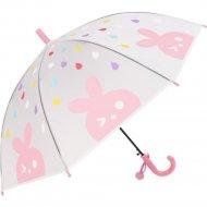 Зонт-трость «Михи-Михи» Зайчик, розовый, 80 см