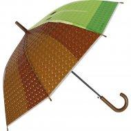 Зонт-трость «Михи-Михи» Киви с 3D эффектом, коричневый, 80 см