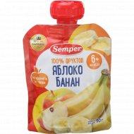 Пюре «Semper» яблоко-банан, 90 г.