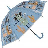 Зонт-трость «Михи-Михи» Лама с кактусами, голубой, 80 см