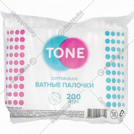 Ватные палочки «Tone» 200 шт.