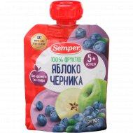 Пюре «Semper» яблоко и черника, 90 г.