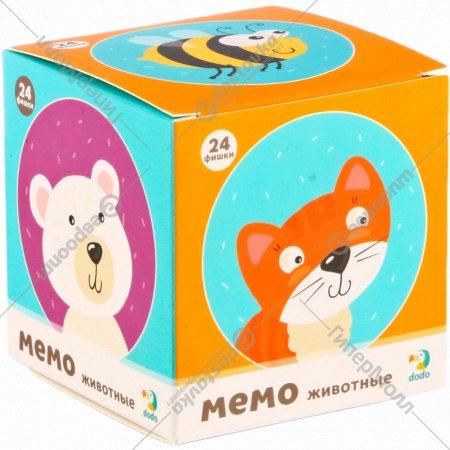 Мемо-игра «Животные» мини, 24 элемента.