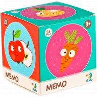 Мемо-игра «Фрукты и овощи» 24 элемента.