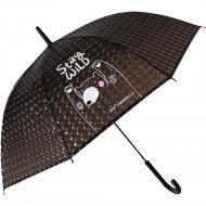 Зонт-трость «Михи-Михи» Мишка с 3D эффектом, черный