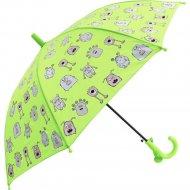 Зонт-трость «Михи-Михи» Монстрики, зеленый, 68 см