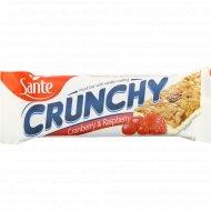 Батончик-мюсли «Crunchy» с клюквой и малиной, 40 г.