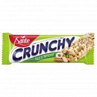 Батончик-мюсли «Crunchy» с лесным орехом и миндалем, 35 г.
