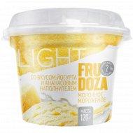 Мороженое «Fru Doza» йогурт и ананасовый наполнитель, 120 г.