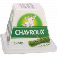 Сыр из козьего молока «Шавру» с зеленым луком 45%, 150 г.