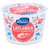 Йогурт сливочный «Valio» с клубникой и кусочками печенья, 7%, 180 г