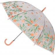 Зонт-трость «Михи-Михи» Цветочки с 3D эффектом, оранжевый, 80 см