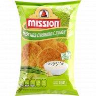 Чипсы кукурузные «Mission» со вкусом сметаны и лука, 150 г.