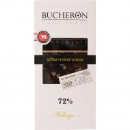 Шоколад горький «Bucheron» с зернами кофе и апельсином, 100 г