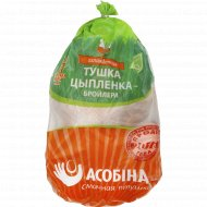 Тушка цыпленка-бройлера «Асобiна» замороженная, 1 кг., фасовка 1.6-2.4 кг