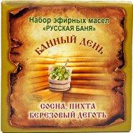 Набор эфирных масел «Банный день» ель, сосна и березовый дёготь, 30 мл