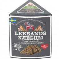 Хлебцы темно-ржаные «Leksands» на закваске с отрубями, 200 г.