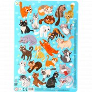 Пазл в рамке «Коты» 53 элемента.