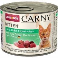 Корм для кошек «Animonda» Carny Kitten, говядина/курица/кролик, 200 г