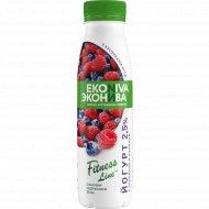 Йогурт питьевой «Fitness Line» черника-малина, 2.5%, 300 г