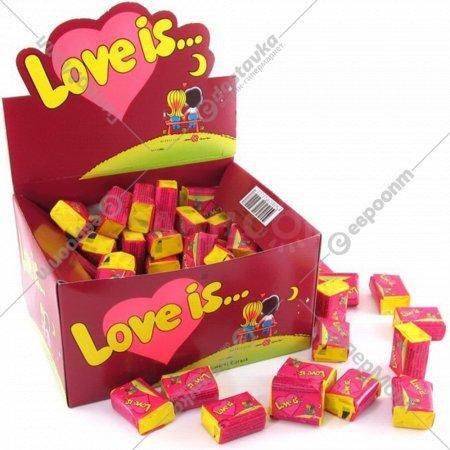 Жевательная резинка «Love is…» со вкусом вишни и лимона, 4.2 г.