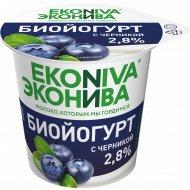 Биойогурт вязкий «Эконива» черника, 2.8%, 125 г