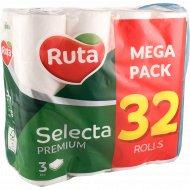 Бумага туалетная «Ruta» Selecta, 3 слоя, 32 рулона