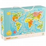 Пазл «Карта мира» 100 элементов.