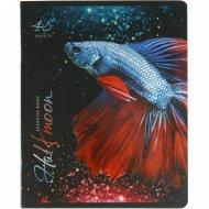 Тетрадь «Бойцовая рыбка Халф-мун» клетка, 48 листов, А5.