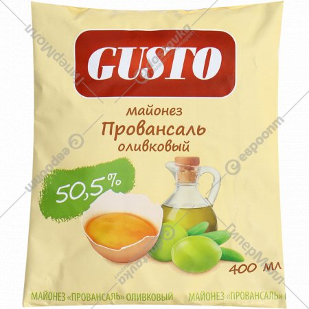 Майонез «Провансаль» оливковый, 50.5%, 400 мл.
