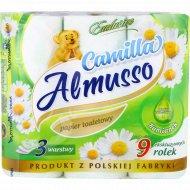 Туалетная бумага «Almusso» Camilla, 3-слойная, 9 рулонов.