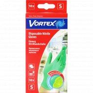 Перчатки нитриловые «Vortex» одноразовые, размер S, 10 шт.