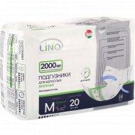 Подгузники для взрослых «Lino» размер М, 75-100 см, 20 шт.