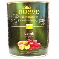 Консервы для взрослых собак «Nuevo» с ягненком и картофелем, 400 г.