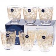 Набор стаканов стеклянных «Neo sofya gold» 310 мл., 6 шт.