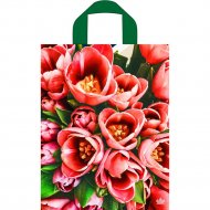 Мешок с ручками «Тюльпаны оранж» 35х28 см