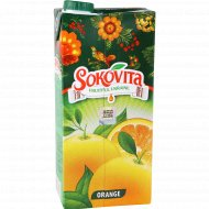 Напиток сокосодержащий «Sokovita» апельсиновый, 0.95 л.