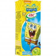 Нектар «ABC» Nickelodeon slim, виноградно-яблочный, 200 мл.