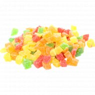 Ананас цукаты кубики, микс 8-10 мм, 1 кг, фасовка 0.2-0.3 кг